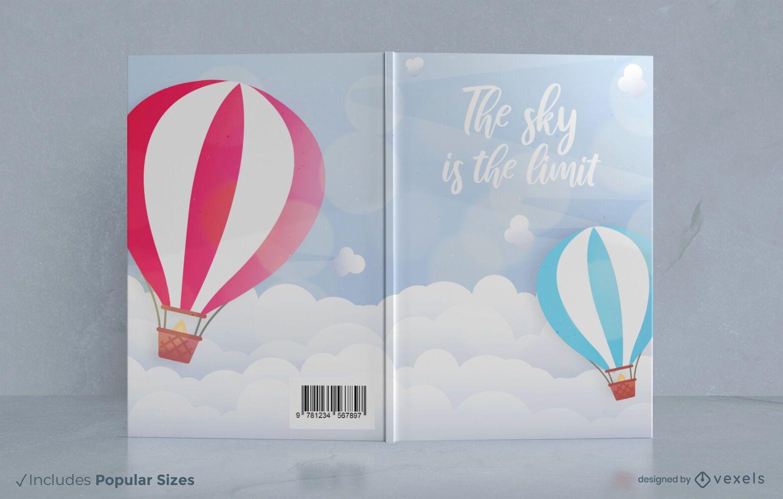 Hot air balloons book cover design