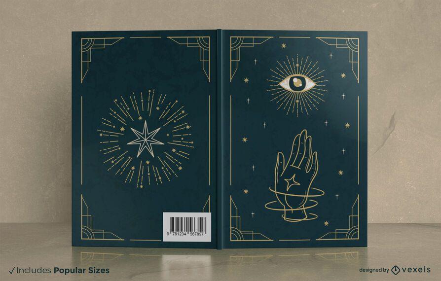 Design de capa de livro místico