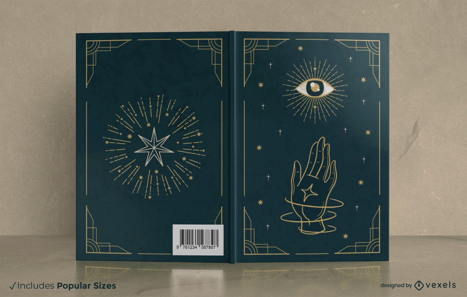 Mystisches Buchumschlagdesign