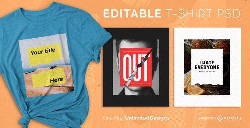 Diseño de camiseta de papel psd