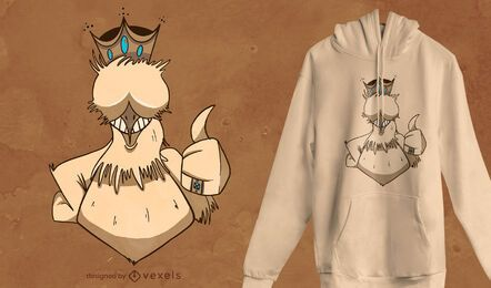 Diseño de camiseta Chicken King