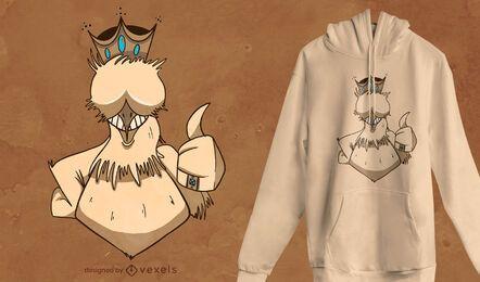 Diseño de camiseta Chicken King