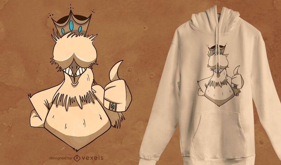 Design de t-shirt Chicken King