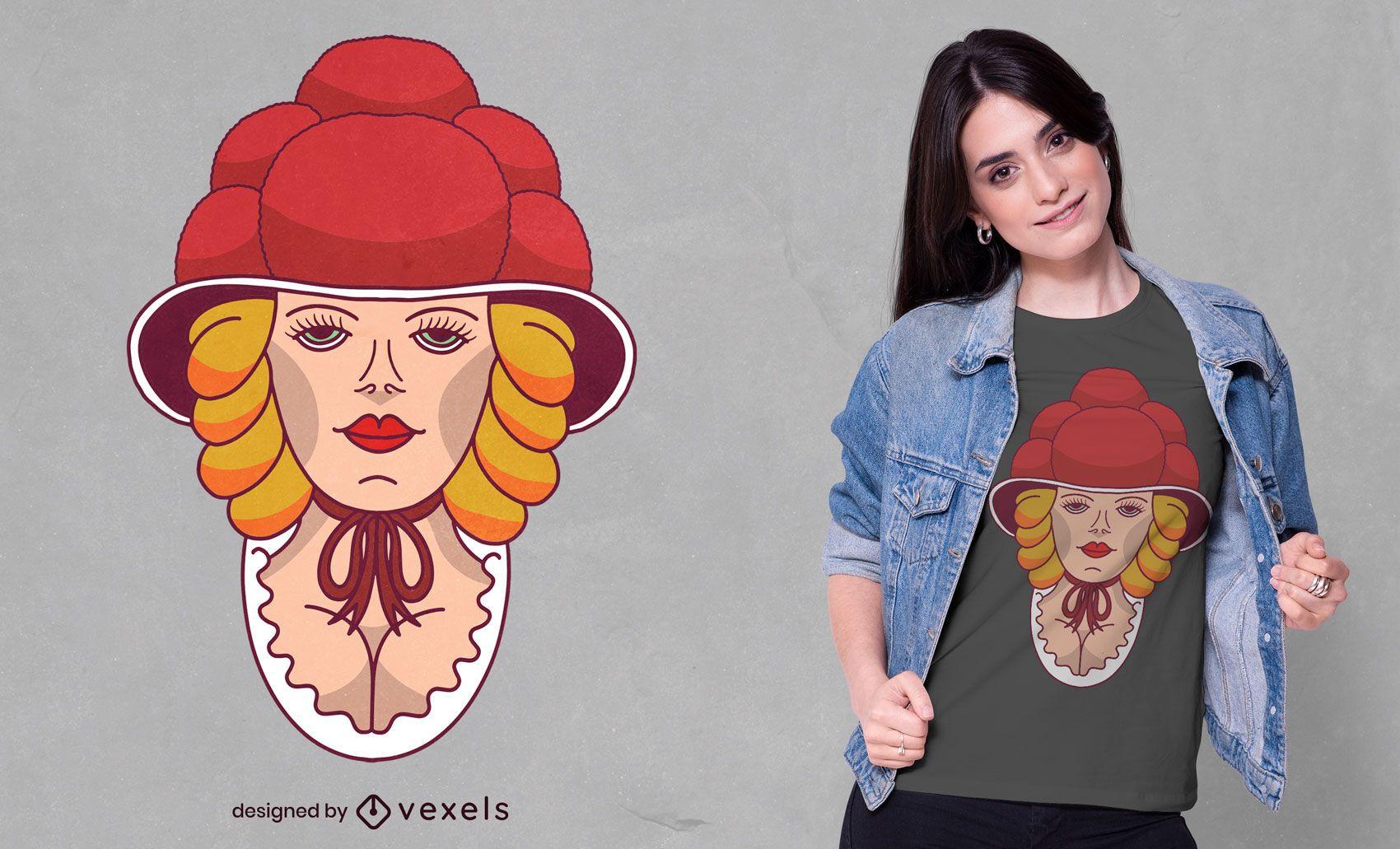 Bollenhut woman t-shirt design