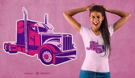 Diseño de camiseta de camión rosa