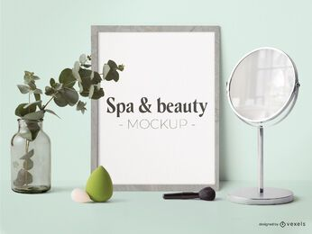 Spa & Beauty Poster Modell Komposition