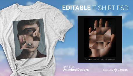 Diseño de camiseta de cubo psd