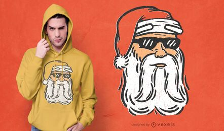Genial diseño de camiseta de santa claus