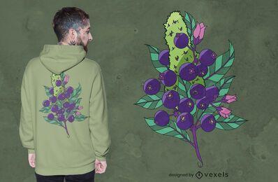 Diseño de camiseta blueberry kush