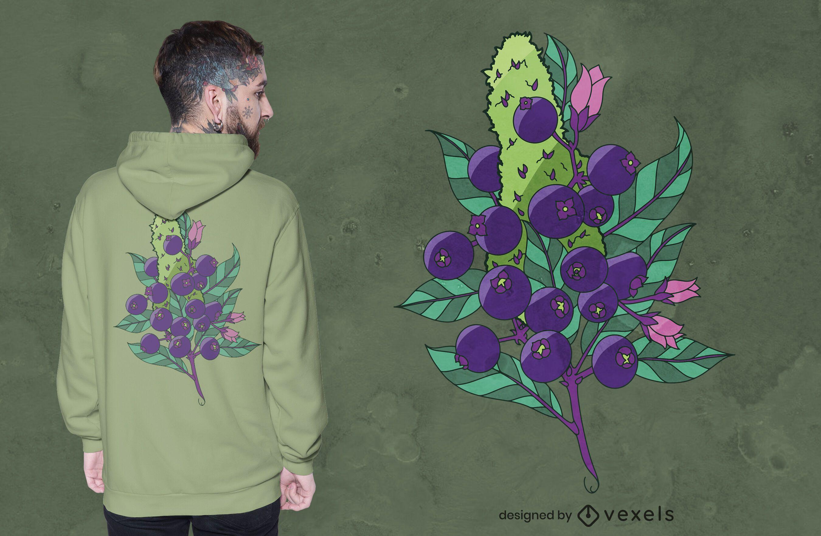 Blueberry kush t-shirt design