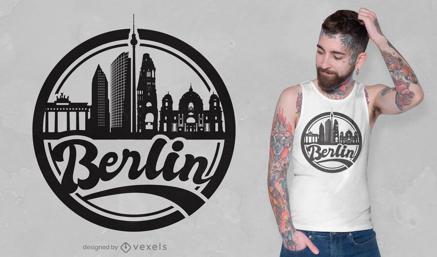 Design de camiseta Skyline Berlim