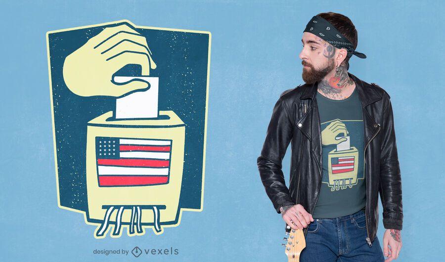 Design de camiseta para urna eleitoral