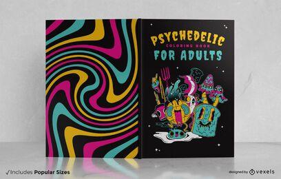Design de capa de livro psicodélico
