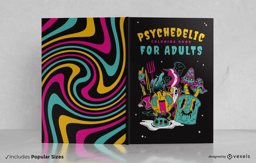 Psychedelic book cover design