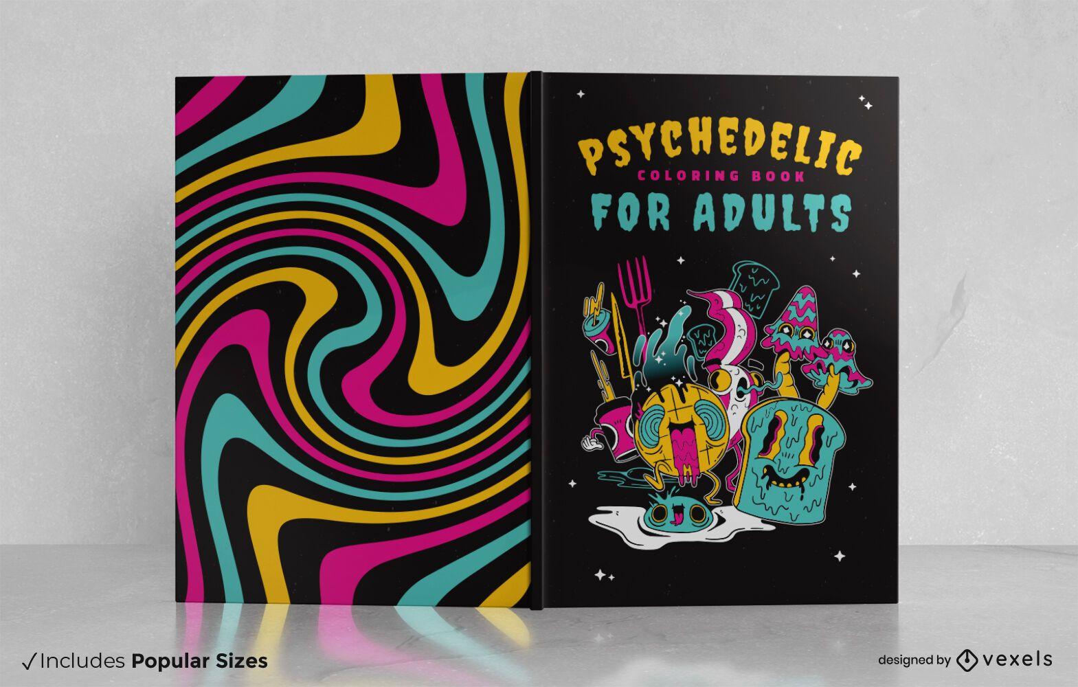 Dise?o de portada de libro psicod?lico