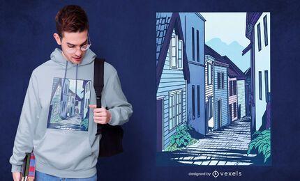 Diseño de camiseta street bergen
