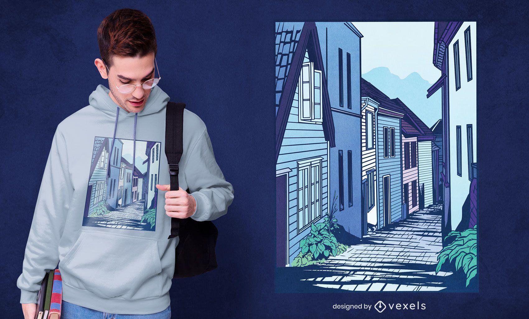 Street bergen t-shirt design