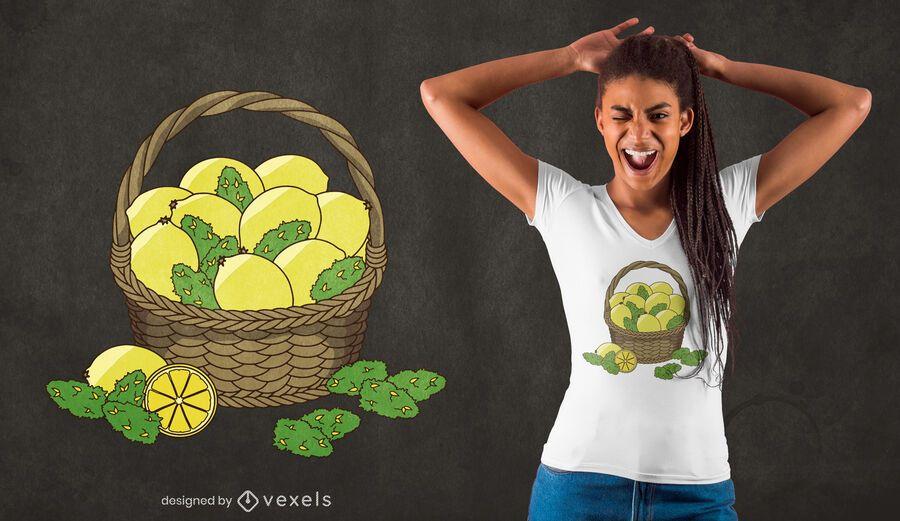 Design de camiseta Lemon Kush