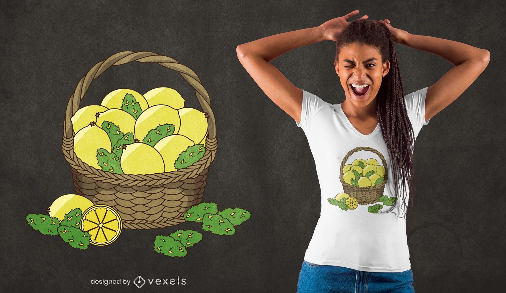 Dise?o de camiseta lemon kush