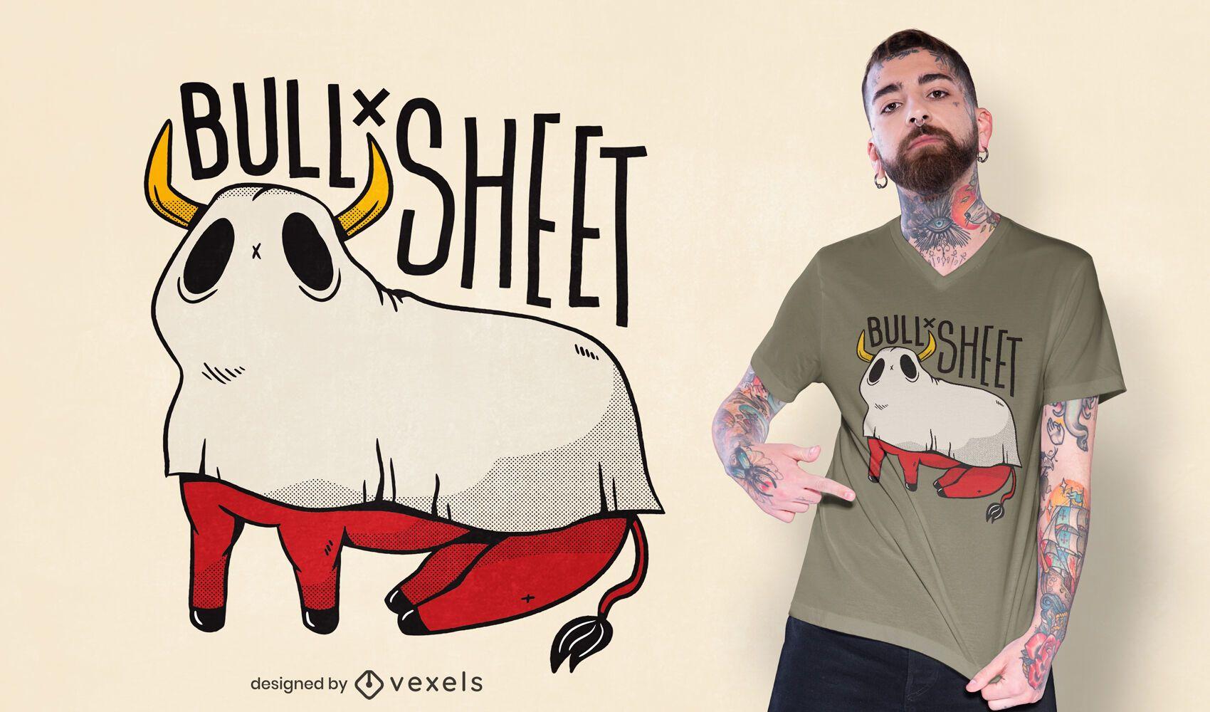Diseño de camiseta de hoja de toro