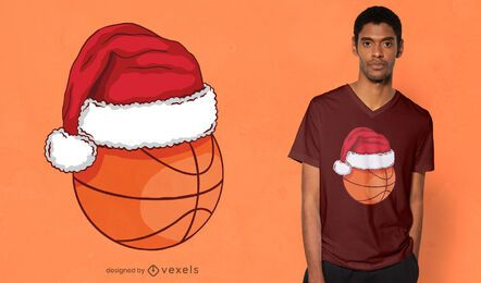 Christmas basketball t-shirt design