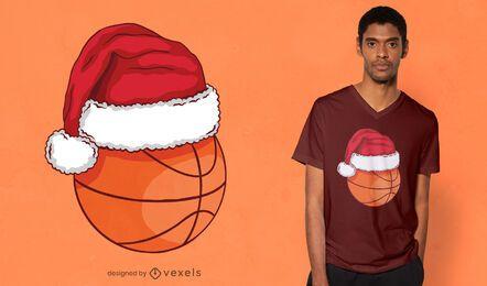 Weihnachtsbasketball-T-Shirt Design
