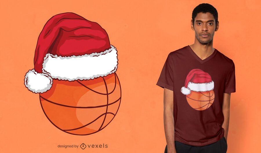 Diseño de camiseta de baloncesto navideño.