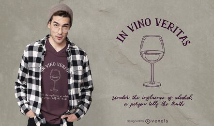 Design de camisetas In Vino Veritas