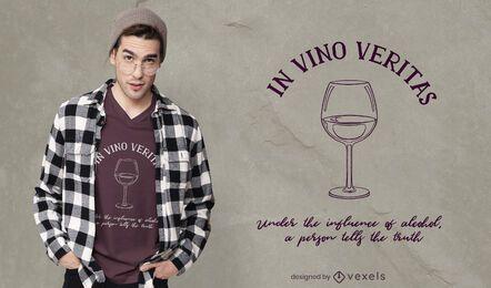 Diseño de camiseta in vino veritas