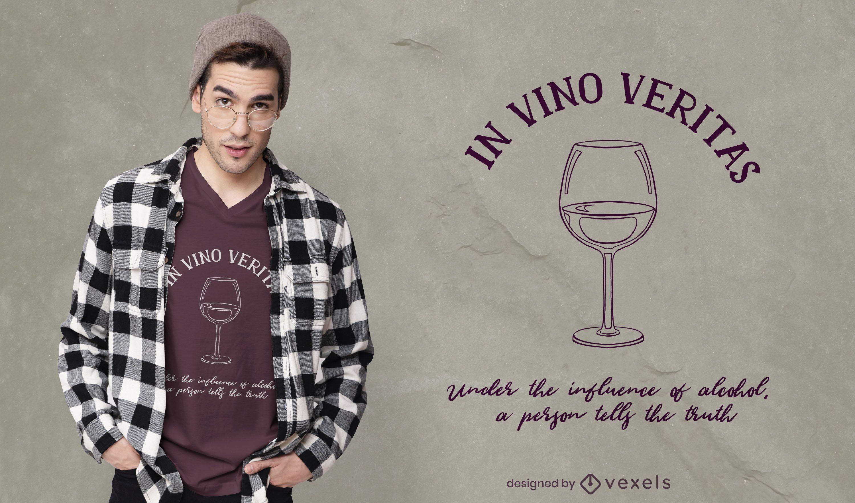 Design de camisetas In Vino Veritas