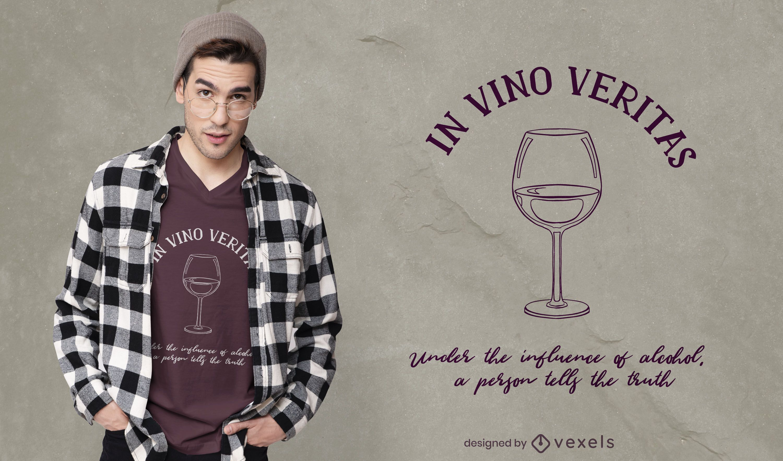 In vino veritas t-shirt design