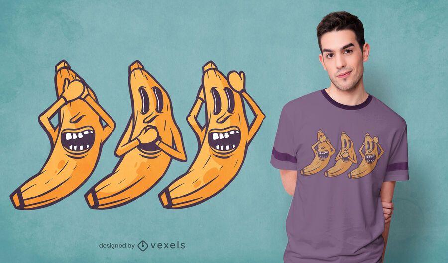 Diseño de camiseta de bananas locas