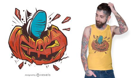 Design de t-shirt de abóbora esmagada