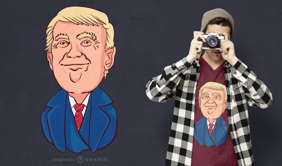 Design de t-shirt Happy Trump
