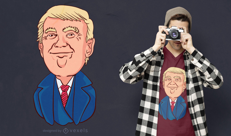 Happy trump t-shirt design