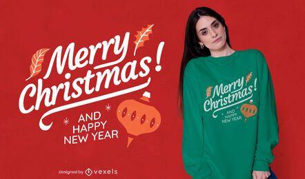 Frohe Weihnachten Schriftzug T-Shirt Design