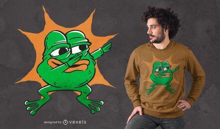 Diseño de camiseta de rana dabbing
