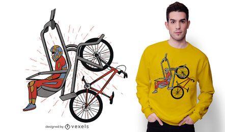 Design de camiseta para elevador de bicicleta