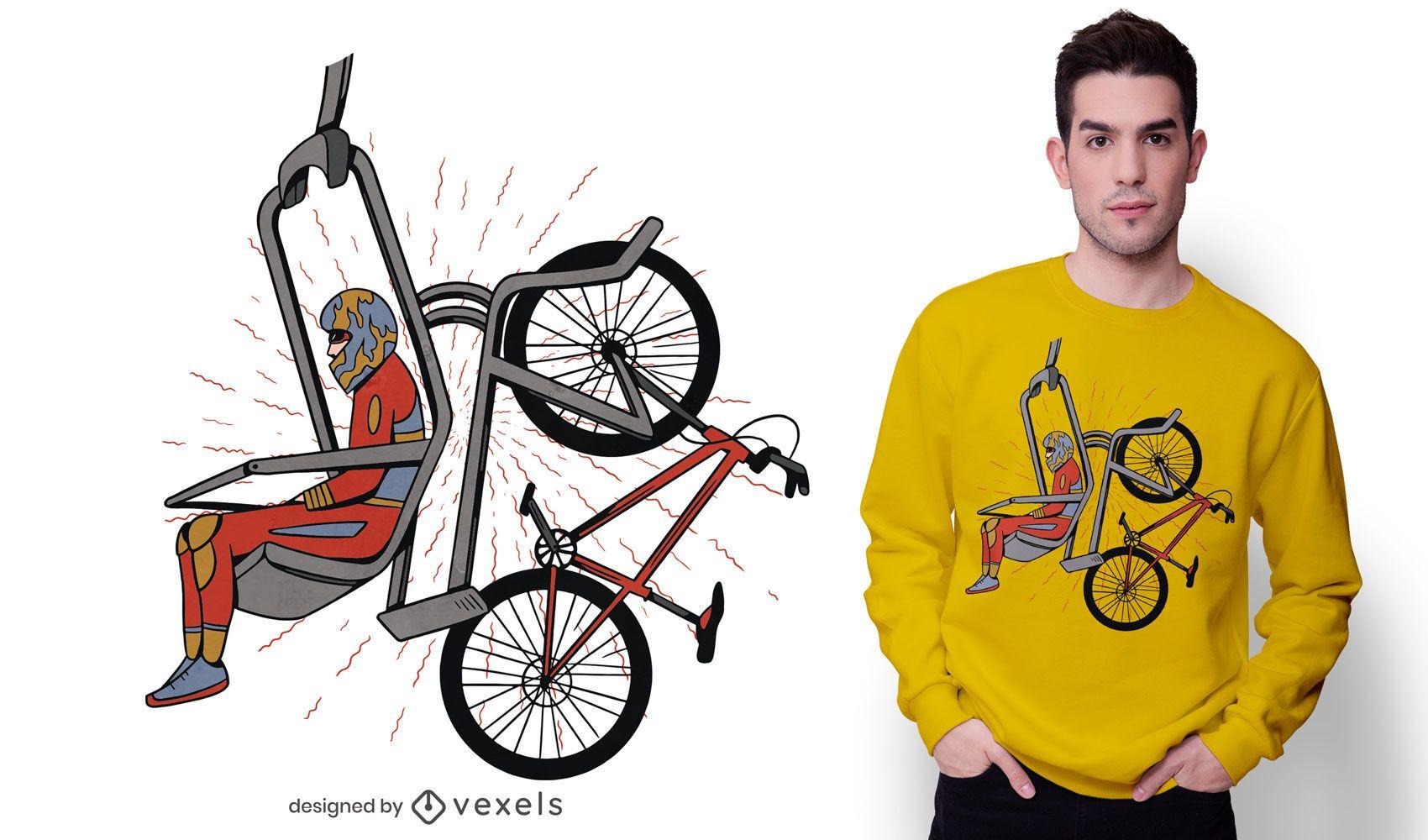 Diseño de camiseta Bike Lift.