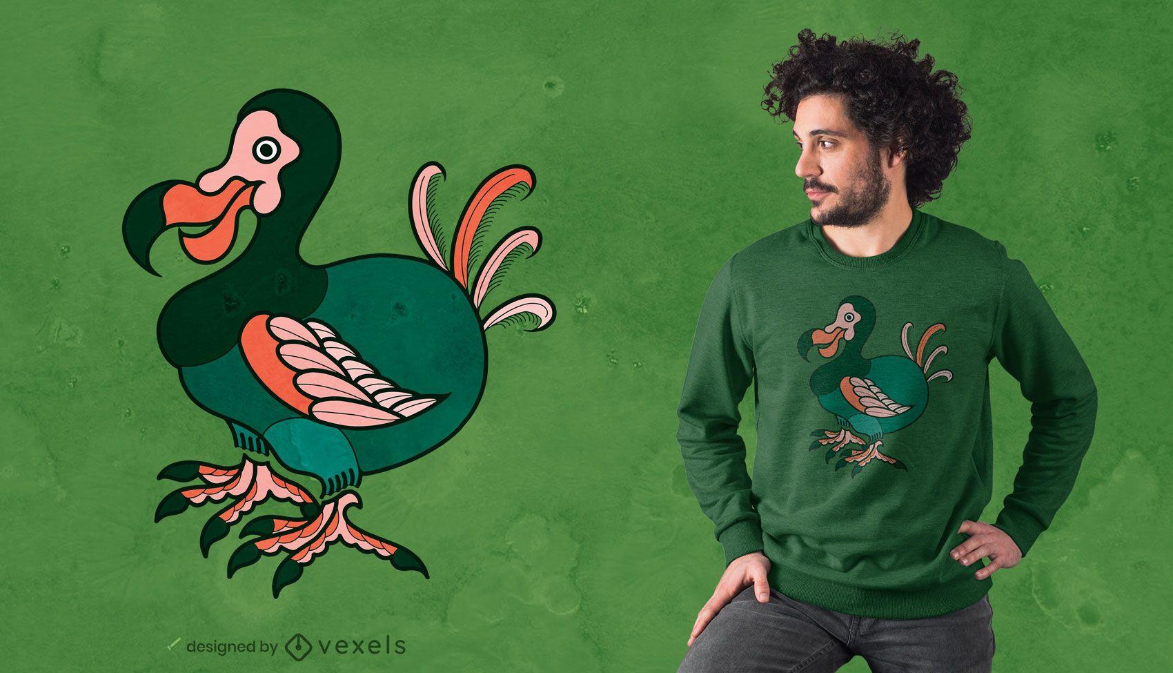 Diseño de camiseta de pájaro Dodo