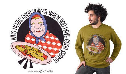 Bom design de camiseta sarma