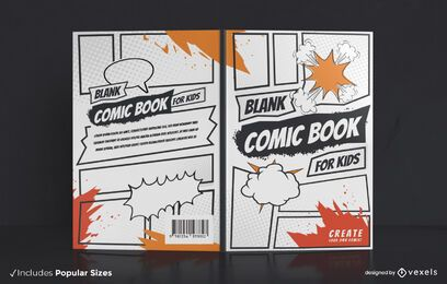 Blank comic book cover design