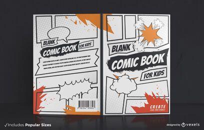 Design de capa de quadrinhos em branco