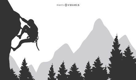 Felsen-Berg oder Hügel, die Klippkunst steigen