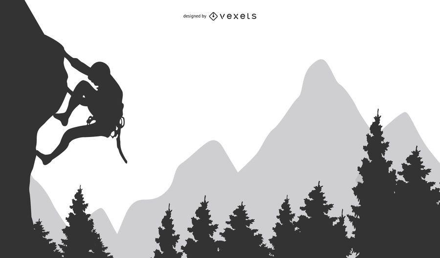 Clipart de Rock Mountain ou Hill Climibing
