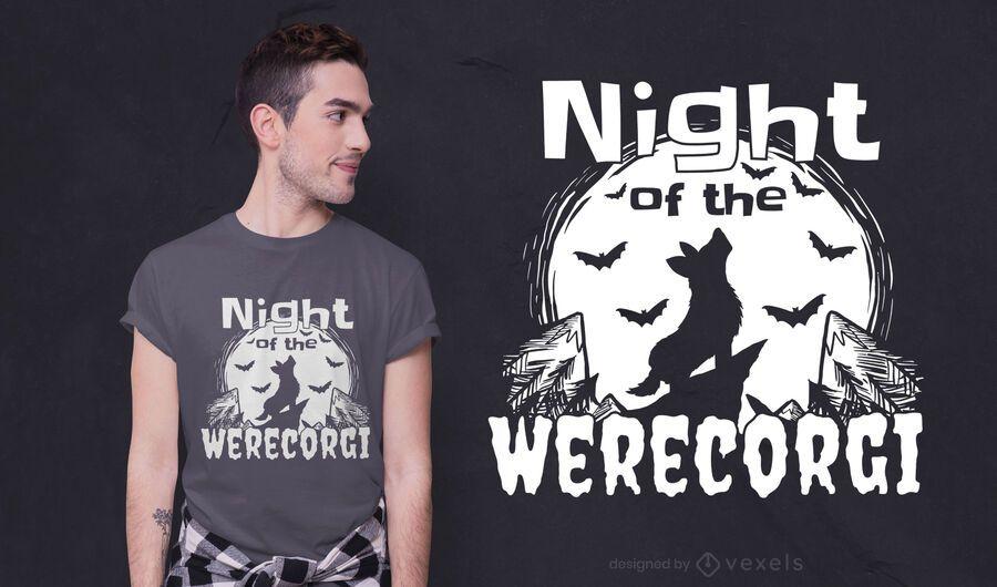 Werecorgi night t-shirt design