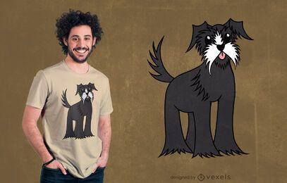 Design fofo de camiseta schnauzer