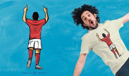 Diseño de camiseta de celebración de gol.