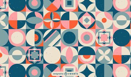 Desenho de padrão geométrico escandinavo