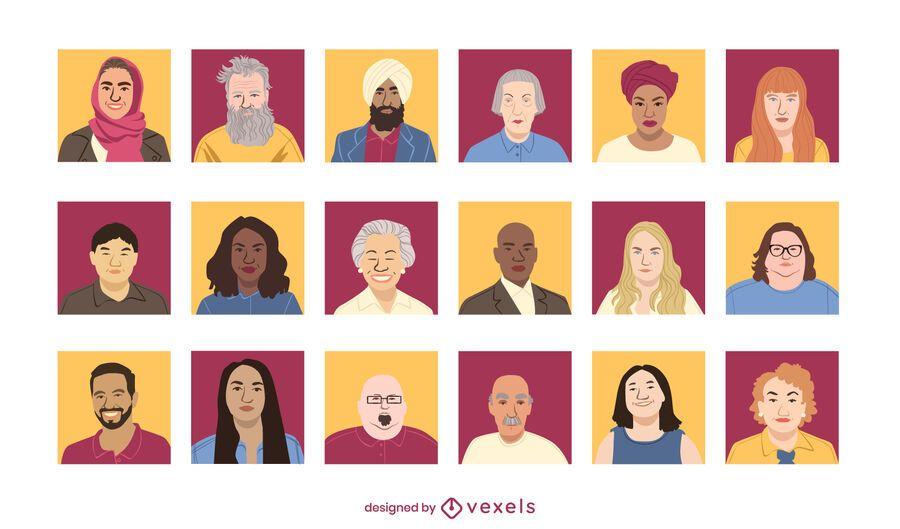 People avatar design set